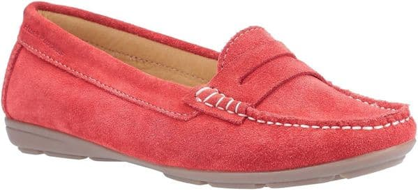 Hush Puppies Margot Slip On Ladies Shoes Red